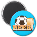 BEER and soccer football Magnets