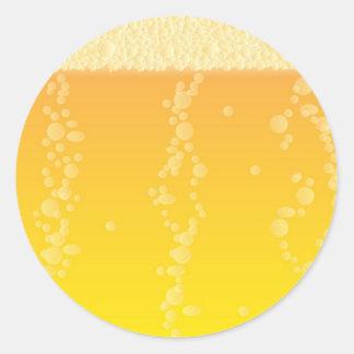 Beer Background Round Sticker