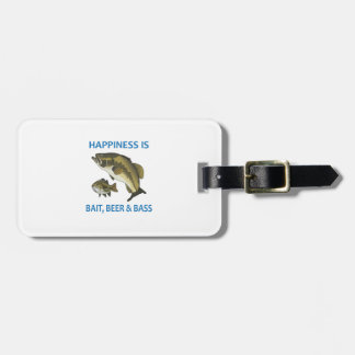 BEER BAIT AND BASS LUGGAGE TAG
