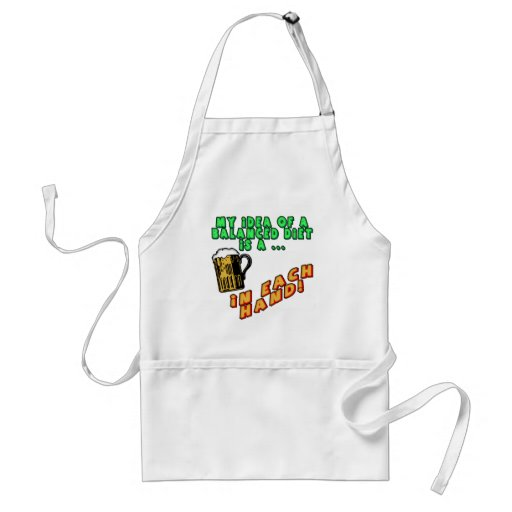 Beer Balanced Diet T-shirts Gifts Aprons