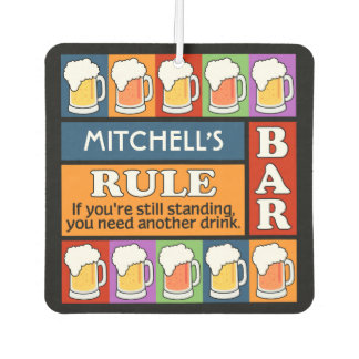 BEER Bar Pop Art CUSTOM NAME air freshner Car Air Freshener