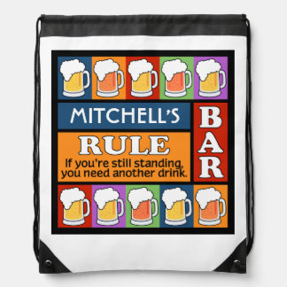 BEER Bar Pop Art custom name backpack