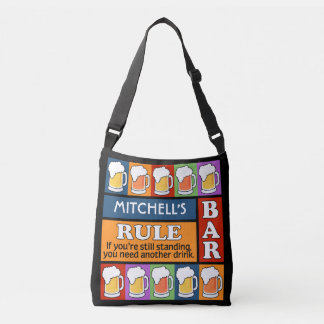BEER Bar Pop Art custom name bags
