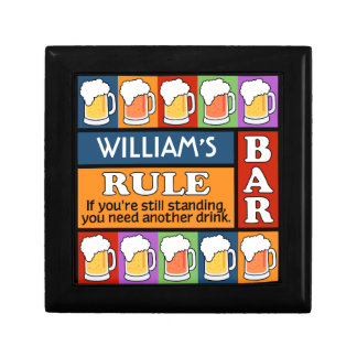 BEER Bar Pop Art CUSTOM NAME gift / jewelry box