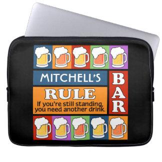 BEER Bar Pop Art CUSTOM NAME laptop sleeves