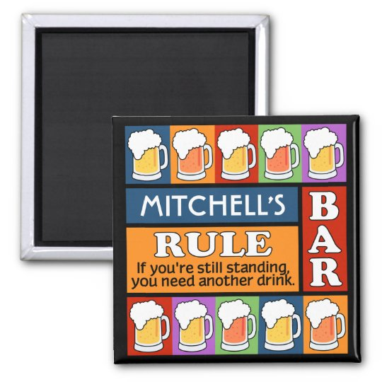 BEER Bar Pop Art CUSTOM NAME magnet
