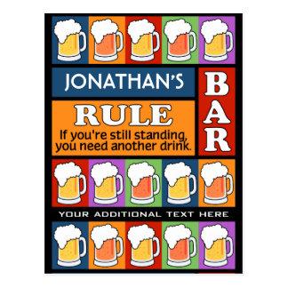 BEER Bar Pop Art CUSTOM NAME postcard