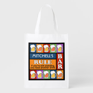 BEER Bar Pop Art CUSTOM NAME reusable bag