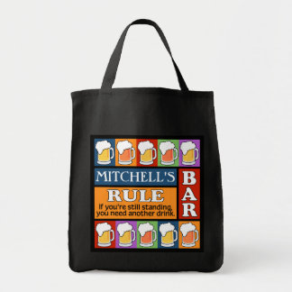 BEER Bar Pop Art custom name tote bags