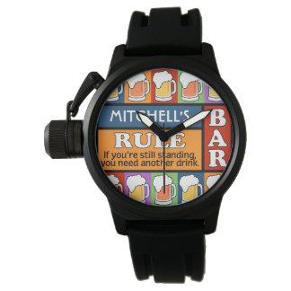 BEER Bar Pop Art custom name watches