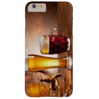 Beer barrel with beer glasses on a wooden table 2 barely there iPhone 6 plus case