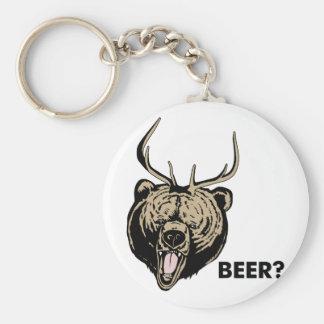 Beer Bear Deer Basic Round Button Key Ring