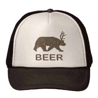 Beer Bear Deer Cap