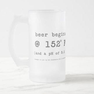 Beer Begins at 152 Degrees Fahrenheit Coffee Mug