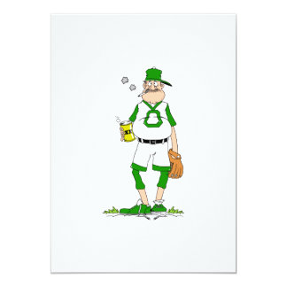 Beer Belly Ball Player 13 Cm X 18 Cm Invitation Card