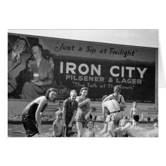 Beer Billboard, 1938 Card