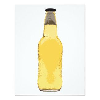 """Beer Bottle 4.25"""" X 5.5"""" Invitation Card"""