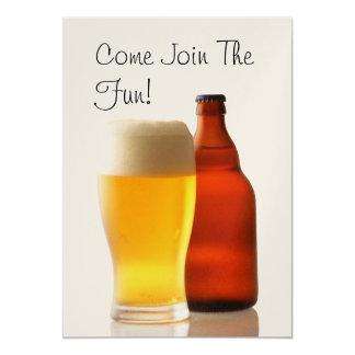 Beer Bottle Bachelor Party Invitation