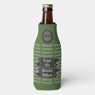 Beer Bottle Cap/Bottle Opener Green/Grey/White Bottle Cooler