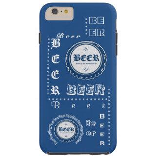 Beer Bottle Cap Collage Blue & White Tough iPhone 6 Plus Case