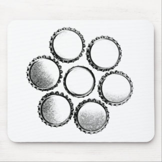 Beer Bottle Caps Flower Mouse Pad