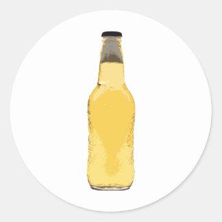 Beer Bottle Classic Round Sticker
