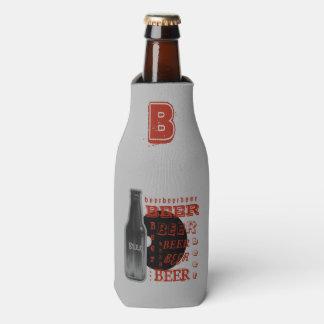 Beer Bottle Multi-Text Grey/Black/Orange