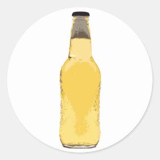 Beer Bottle Round Sticker