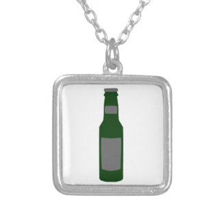Beer Bottle Silver Plated Necklace