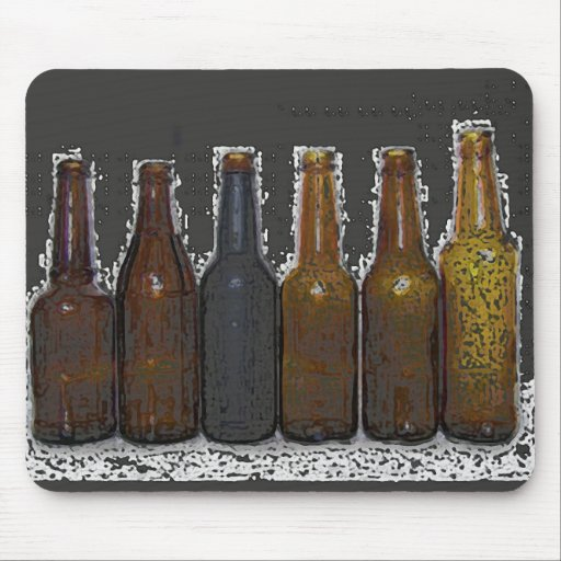 Beer Bottles Mouse Pads