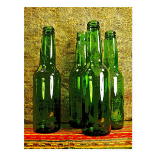 Beer Bottles Postcard