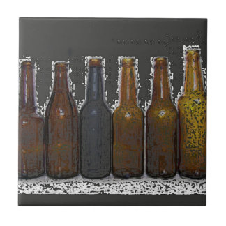 Beer Bottles Small Square Tile