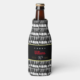 beer-bottles with black label bottle cooler