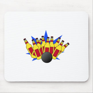 Beer Bowling Mouse Pad