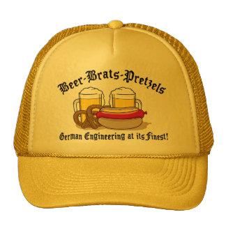 Beer Brats Pretzels German Cap