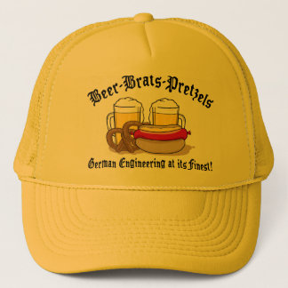 Beer Brats Pretzels German Trucker Hat