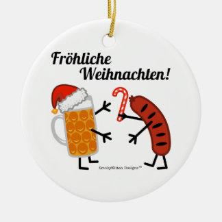 Beer & Bratwurst - Fröhliche Weihnachten! Christmas Ornament