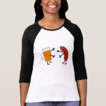 Beer & Bratwurst - Funny Friendly Food Tee Shirt