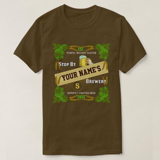 Beer Brewery Personalised Name | Hops Barley Cool