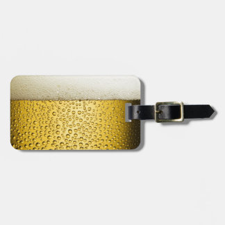 Beer Bubbles Ale Amber Drink Travel Bag Tag