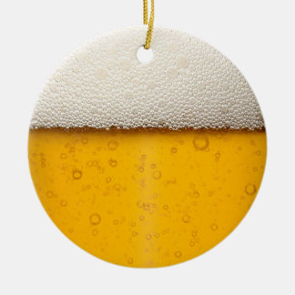Beer Bubbles Close-Up Christmas Ornament