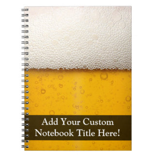 Beer Bubbles Close-Up Notebook