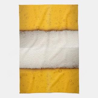 Beer Bubbles Close-Up Tea Towel