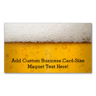 Beer Bubbles Magnetic Business Cards