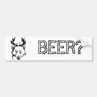 Beer? Bumper Sticker