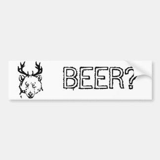 Beer? Bumper Sticker