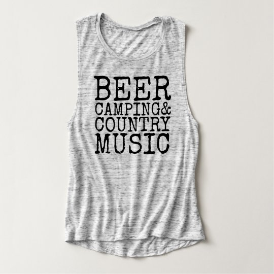 Beer, Camping & Country Music Tank Top