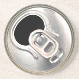 beer can top open drink metal container coaster
