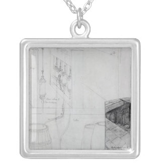 Beer Cellar equipment, 1825 Silver Plated Necklace