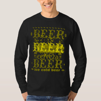 Beer/Cerveza Gold Yellow T-shirt